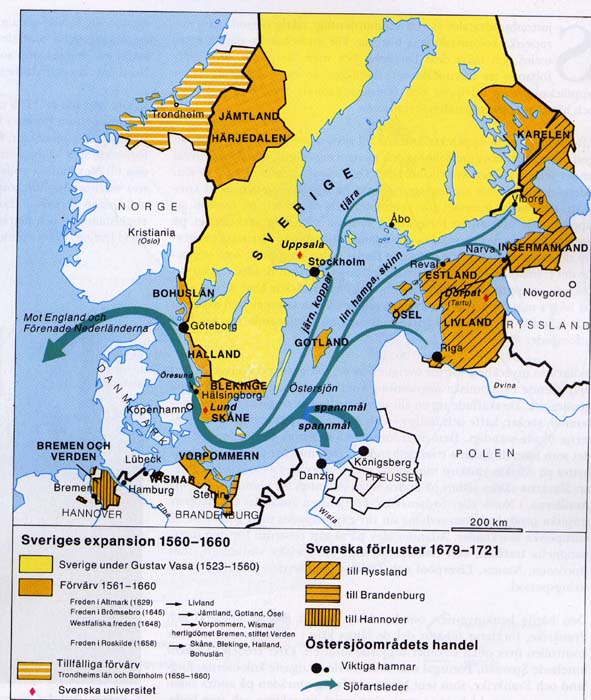 Historical Maps Of Scandinavia - Sweden map history